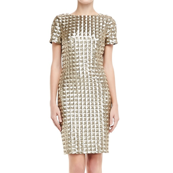 Short Sleeve Sequin Dress